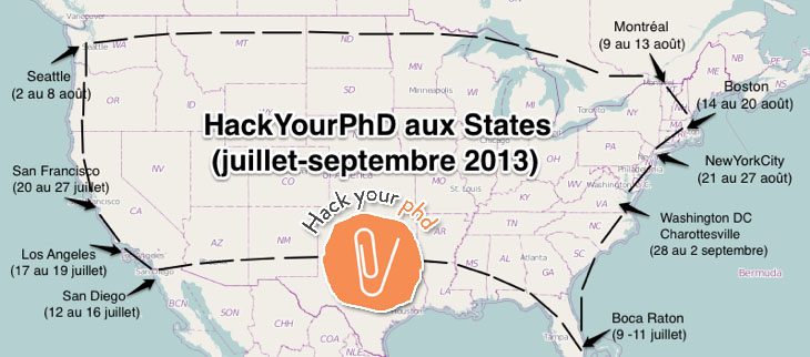 HackYourPhd: reporting on Open Science from the US @ Boca Raton/Paris, USA/France