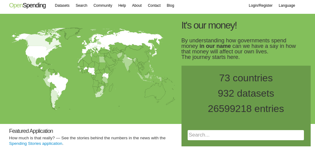 Open Spending: Tracking Financial Data worldwide