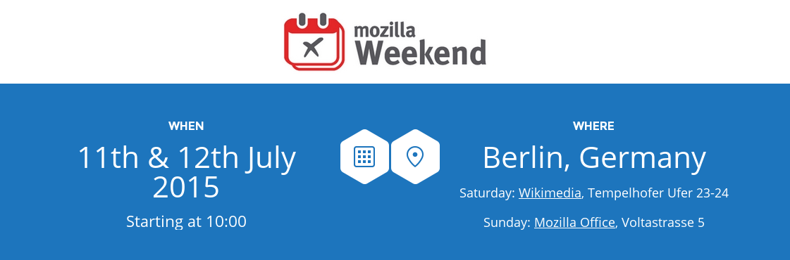 Mozilla Weekend is coming to Berlin